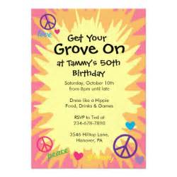 groovy 60 s theme invitations 5 quot x 7 quot invitation card zazzle