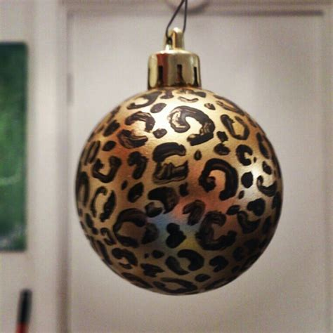 cheetah print christmas ornament cheetah stuff