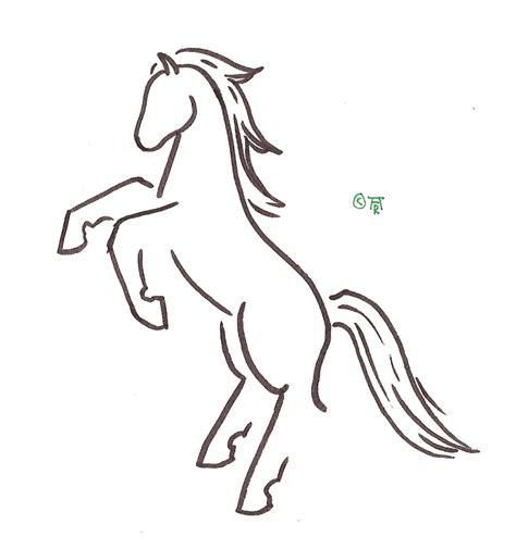 cartoon horse tattoo horse outline tattoo cliparts co