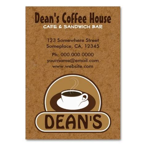 coffee business card template free 17 best images about coffee shop business cards on