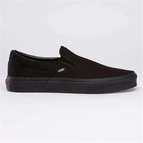 vans all black slip on shoes brown vans shoes