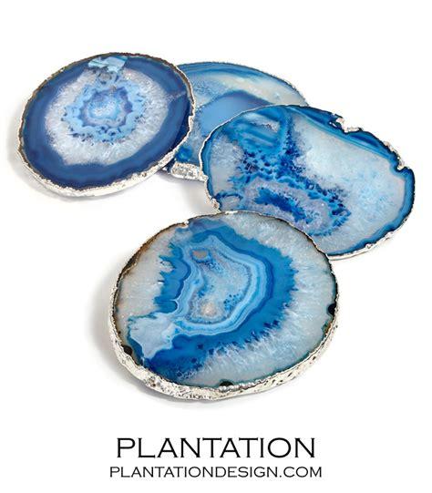 blue agate coaster karla agate coasters blue plantation