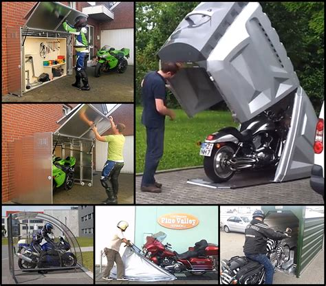 motorcycle storage designs    world part  shelters core