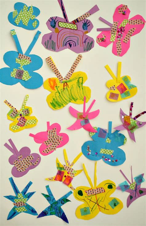 easy paper butterfly craft fantastic learning