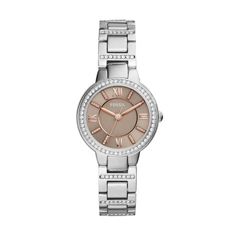 Fossil Virginia Three Es3282 fossil s es3282 virginia three stainless steel fossil watches