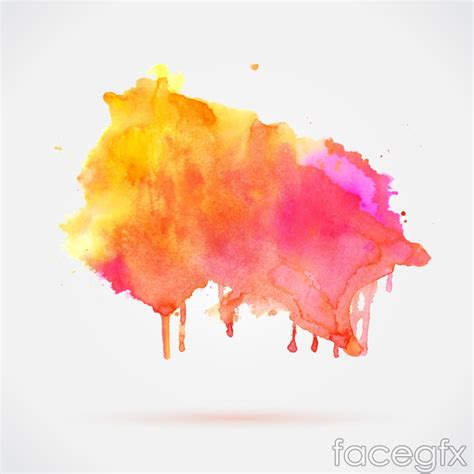 colorful watercolor ink vector free