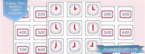 printable clock matching game telling time half hour worksheets printable treats com