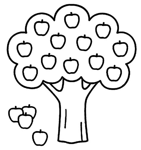 Apple Tree Pictures To Color Coloring Home