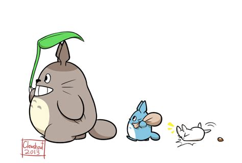 imagenes kawaii de totoro totoro sticker by clawshawt on deviantart