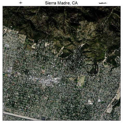 aerial photography map of madre ca california