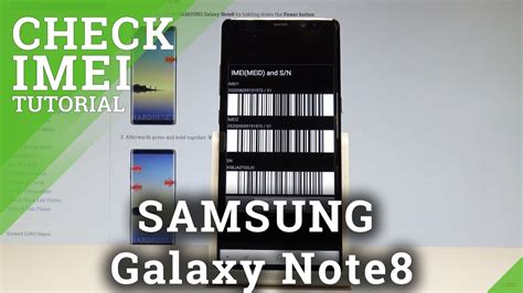 how to check imei in samsung galaxy note8 serial number hardreset info