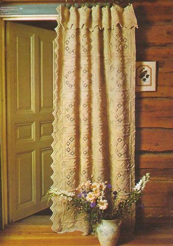 crochet door curtain pattern vintage crochet pattern chic door curtain or bedspread