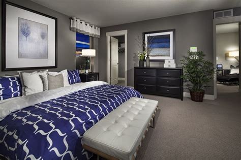cobalt blue and gray master bedroom home sweet home