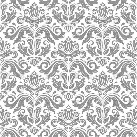 grey damask pattern grey damask seamless pattern with floral elements royalty