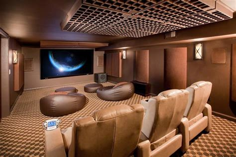 Small Home Theater Acoustic Treatment Cool Basement Chairs Basement