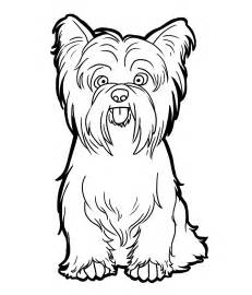 yorkie terrior colouring pages
