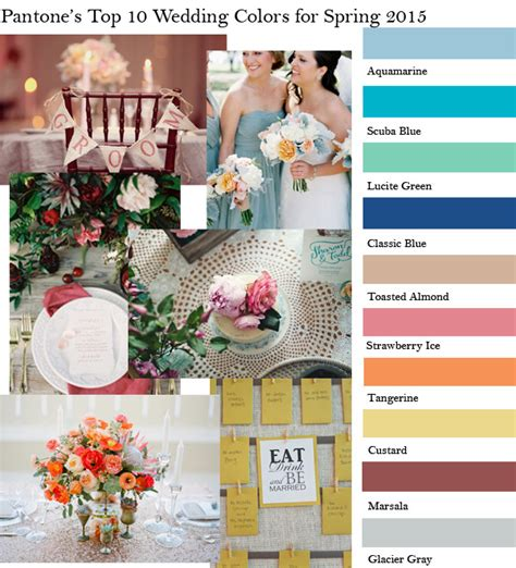 top 10 color trends for spring summer 2015 hot beauty health pantone s top 10 fashion colors for spring wedding color