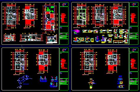 duplex house  autocad  cad   mb