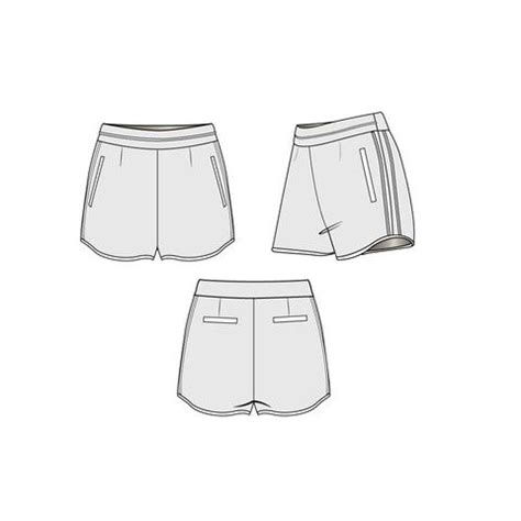 shorts template 17 best images about technical drawing on