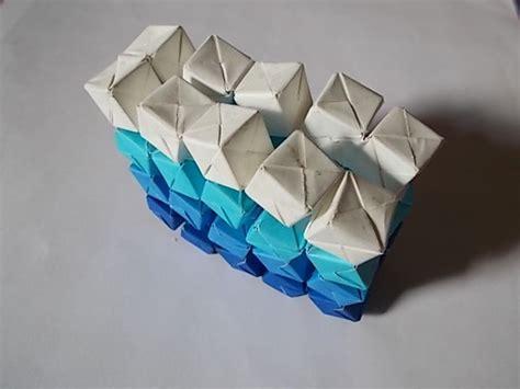 Interactive Origami - interactive origami sculpture