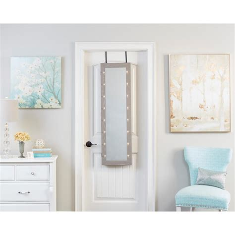 gray mirrored jewelry armoire home decorators collection provence wall mount jewelry