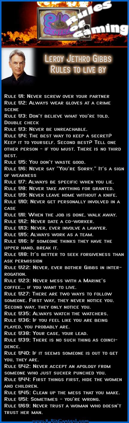 gibbs rules complete list the rules of gaming ncis gibbs and gaming rules to live