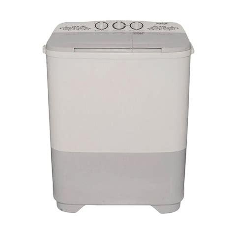 jual sharp es t75mw hk mesin cuci 2 tabung 7 kg
