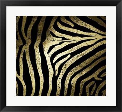 zebra pattern gold gold foil zebra pattern on black artwork by vision studio