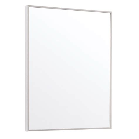 metal framed bathroom mirrors sonoma aluminum metal frame bathroom mirror zuri furniture