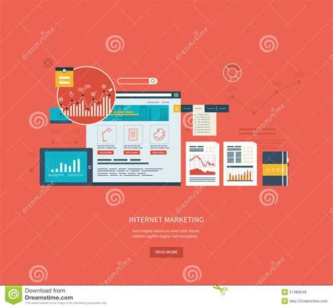 design management online flat design illustration concepts for business stock