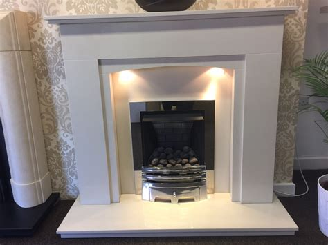 Bespoke Fireplaces by Oviado 54 Bespoke Marble Fireplace With Gas Inset