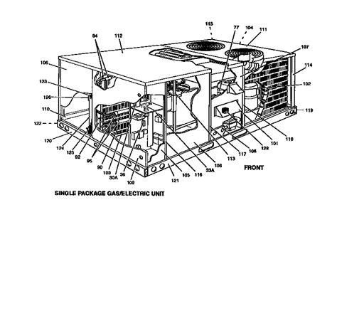 york furnace parts diagram front of single unit diagram parts list for model