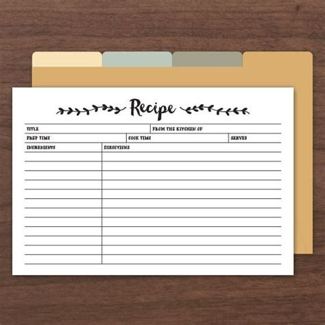 Page Editable From The Kitchen Of Recipe Card Template by Printable Recipe Cards Pdf Instant Templates
