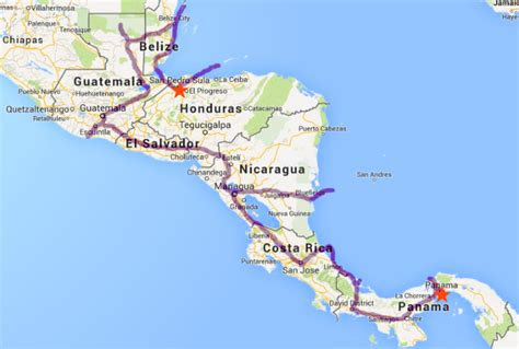 road map central usa the lifestyle project travel route through central