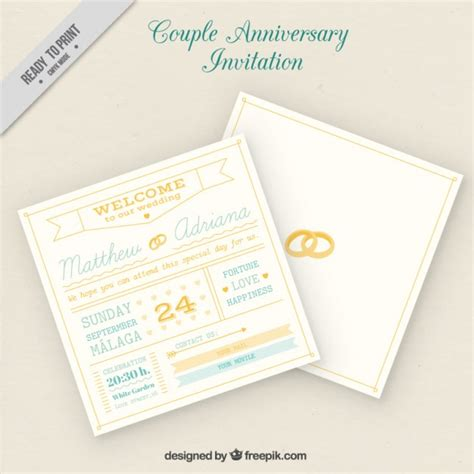 free printable anniversary cards for couple couple anniversary card vector free download