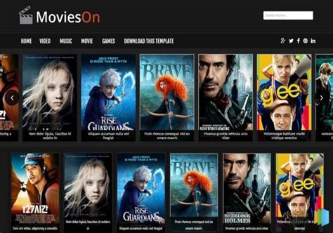 movies on blogger template blogspot templates 2017