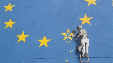 Banksy Wall Mural banksy brexit mural unveiled on day of french vote cnn