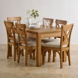 taunton dining set extending dining table in rustic oak