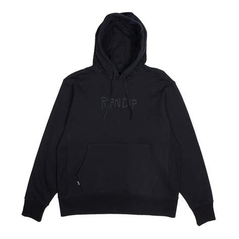 Hoodie Logo Go 1 logo hoodie black ripndip