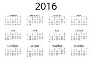 Small Desk Calendar 2016 Printable Clipart 2016 Calendar
