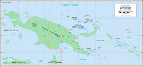 New Guinea On World Map by Pics Photos Papua New Guinea Map Satellite Latitude