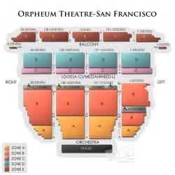 Orpheum Floor Plan Orpheum Theatre San Francisco Tickets 195 195 195 194
