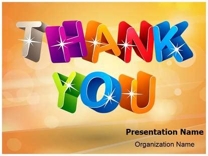 Powerpoint Templates Thank You by Congratulations Thank You Powerpoint Template Background