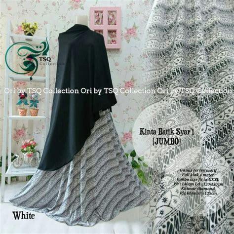 Gambar Gamis Jumbo Hitam Gamis Jumbo B135 Kinta Syar I Batik Baju Muslim Jersey