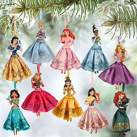 disney princess sketchbook ornament set