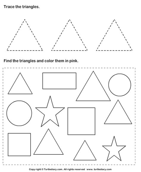triangle pattern to trace free worksheets 187 pattern tracing worksheets free math