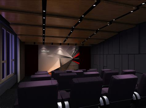 Interior Design For Living Room Purple Seats For The Home Theater