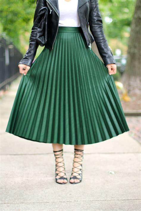green pleated skirt dress ala