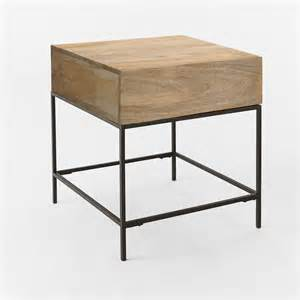Side Tables With Storage Rustic Storage Side Table