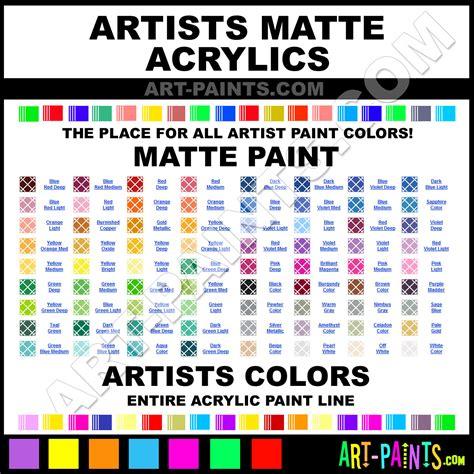 artists matte acrylic paint colors artists matte paint colors matte color matte acrylics
